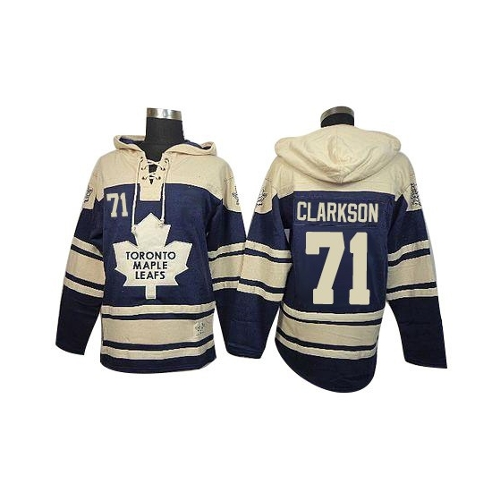 David Clarkson Toronto Maple Leafs Old Time Hockey Premier Sawyer Hooded Sweatshirt Jersey - Royal Blue