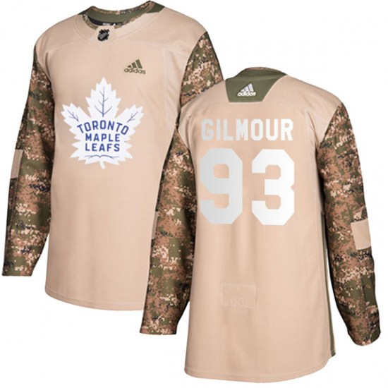 Doug Gilmour Toronto Maple Leafs Youth Authentic Veterans Day Practice Adidas Jersey - Camo