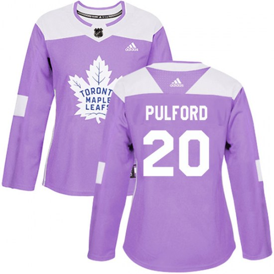 Bob Pulford Toronto Maple Leafs Women's Authentic Fights Cancer Practice Adidas Jersey - Purple