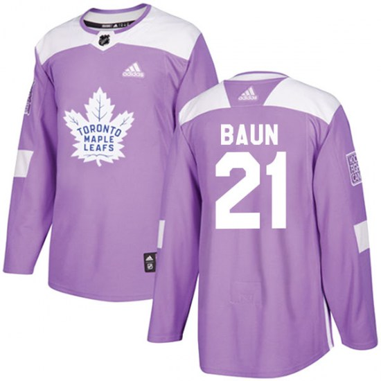 Bobby Baun Toronto Maple Leafs Authentic Fights Cancer Practice Adidas Jersey - Purple