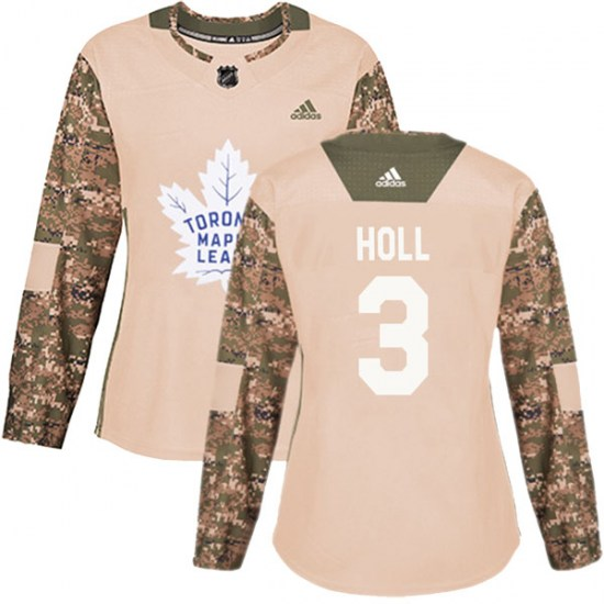 Justin Holl Toronto Maple Leafs Women's Authentic Veterans Day Practice Adidas Jersey - Camo